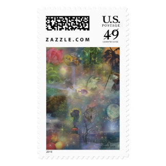 Four Seasons - Spring Summer Winter Fall Stamp