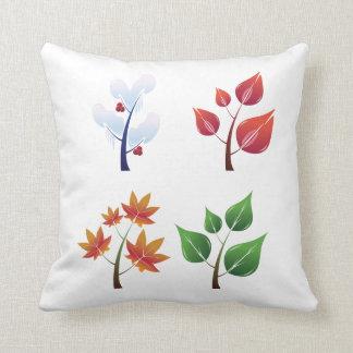 Four Seasons Throw Pillow