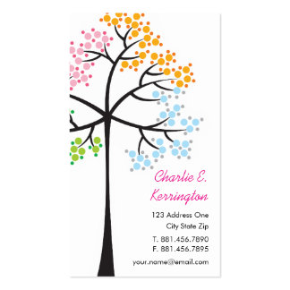Four Seasons Trees Nature Woodland Business Cards Business Cards