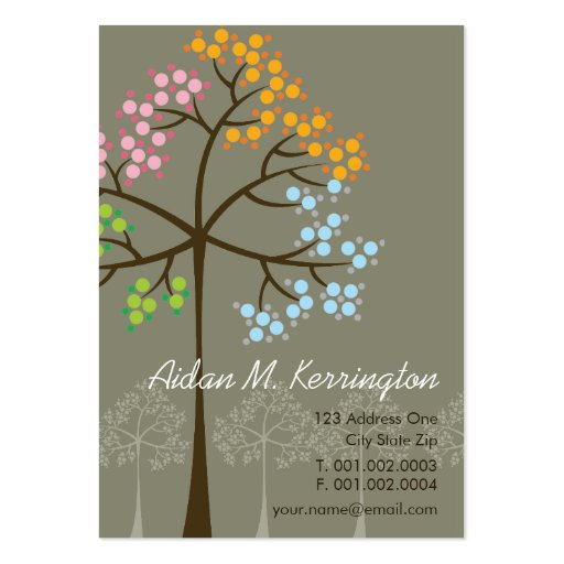 Four Seasons Trees Nature Woodland Business Cards Business Card