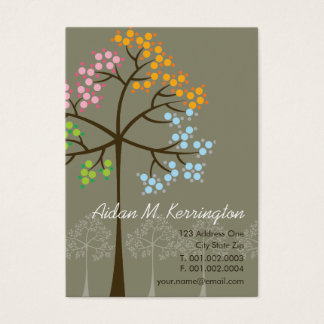 Four Seasons Trees Nature Woodland Business Cards