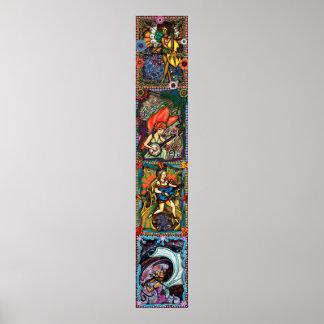 Four Seasons - vertical composite Poster