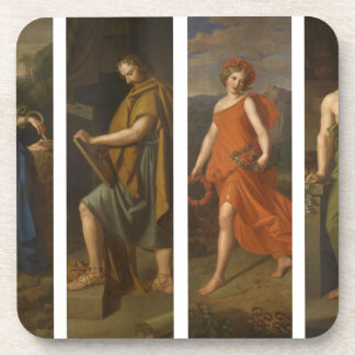 Four shop signs (Hygieia, Hippocrates, Galen...) Drink Coaster