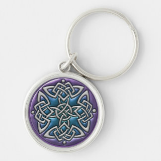 Four Sided Celtic Knots in Metal Keychain
