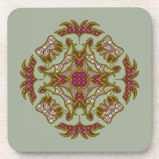 Four Sided Emblem Patchwork Coaster