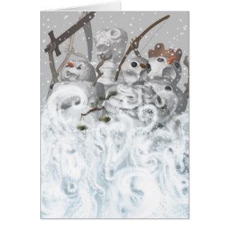 Four Snowmen of the Apocalypse Card