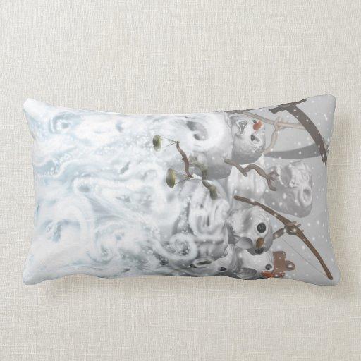 Four Snowmen of the Apocalypse Pillows