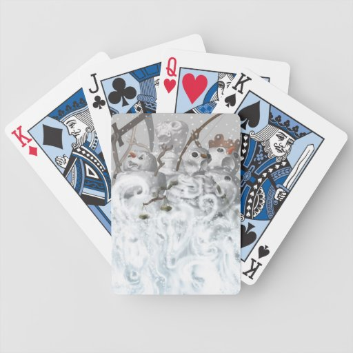 Four Snowmen of the Apocalypse Bicycle Playing Cards