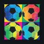 "Four Soccer Balls in Different Colors Canvas Print<br><div class=""desc"">&#169; Wild Apple Portfolio / Wild Apple.  This image shows four soccer balls in different colors. Great for soccer fans and sports fans alike.</div>"