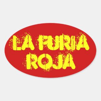 "FOUR Spain ""La Furia Roja"" Oval Sticker"