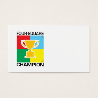 Four-Square Champion Business Card