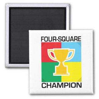 Four-Square Champion Magnet