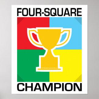 Four-Square Champion Poster