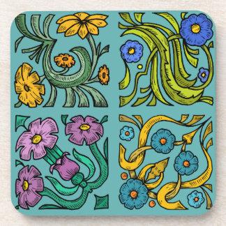 Four Squares Beverage Coaster