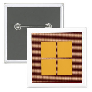 Four Squares Gold 2 Inch Square Button