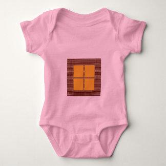 Four Squares Gold Baby Bodysuit
