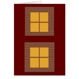 Four Squares Gold Greeting Cards