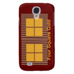 Four Squares Gold Galaxy S4 Cases