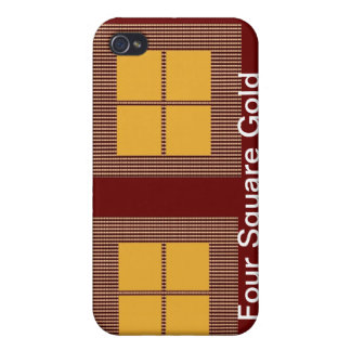Four Squares Gold Case For iPhone 4