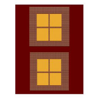 Four Squares Gold Postcard