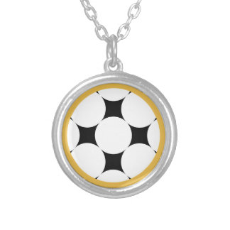 Four Star Circle by Kenneth Yoncich Silver Plated Necklace