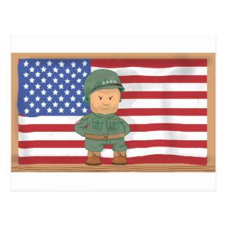 four-star general officer rank postcard