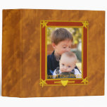 Four-Star Gold and Maroon Frame - Insert Photo! 3 Ring Binder