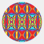 Four Stars Round Sticker