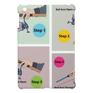 Four Steps to cast spinning rod with spinning reel iPad Mini Cases