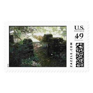 Four Stone Pillars Postage Stamp