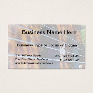 Four string bass bridge close up photo grunge business card