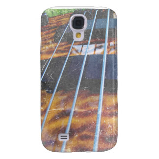 Four string bass bridge close up photo grunge samsung galaxy s4 cover