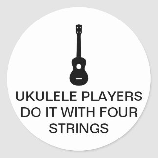 Four Strings Classic Round Sticker