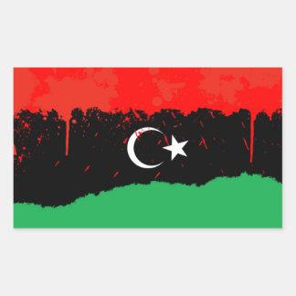 FOUR Stylized Kingdom of Libya Flag (1951-1969) Rectangular Sticker