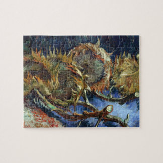 Four Sunflowes gone to Seed by Van Gogh Jigsaw Puzzle