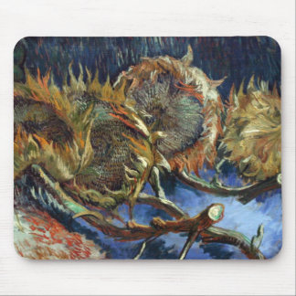 Four Sunflowes gone to Seed by Van Gogh Mouse Pad