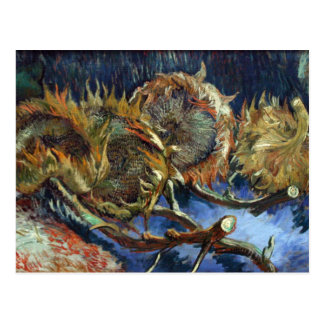 Four Sunflowes gone to Seed by Van Gogh Postcard