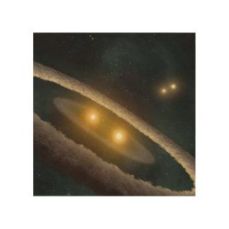 Four Suns Wood Canvas
