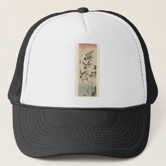 Four Swallows by Hiroshige Trucker Hat