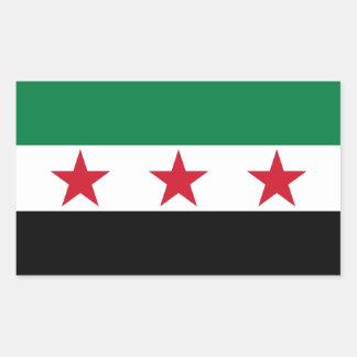 FOUR Syria Flag Rectangular Sticker