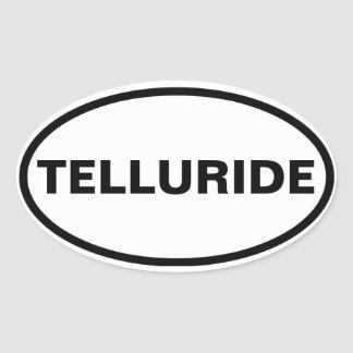 FOUR Telluride Oval Sticker