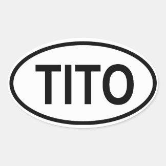 FOUR Tito Oval Sticker