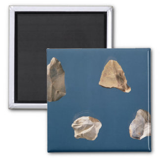 Four tools, 35000-10000 BC 2 Inch Square Magnet