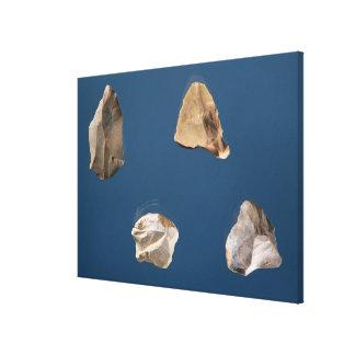 Four tools, 35000-10000 BC Canvas Print