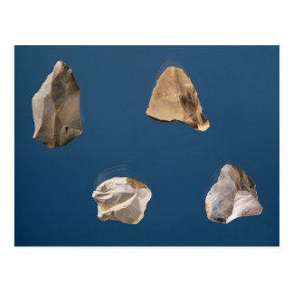 Four tools, 35000-10000 BC Postcard