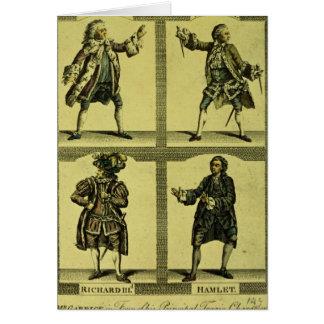 Four Tragic Roles Card