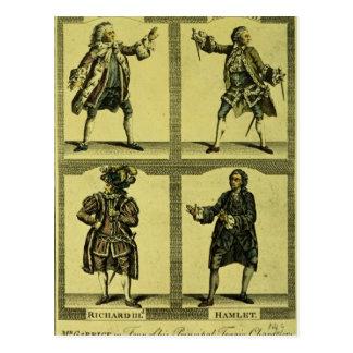 Four Tragic Roles Postcard