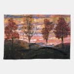 Four Trees by Egon Schiele Towel