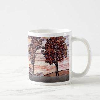 Four Trees By Schiele Egon Coffee Mugs