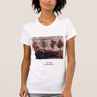 Four Trees By Schiele Egon Tee Shirts